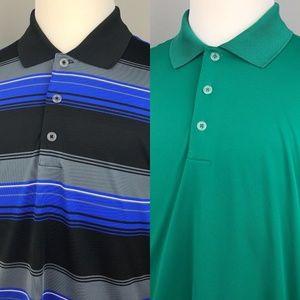 Lot of 2 Adidas Puremotion Golf Polo Shirts Large